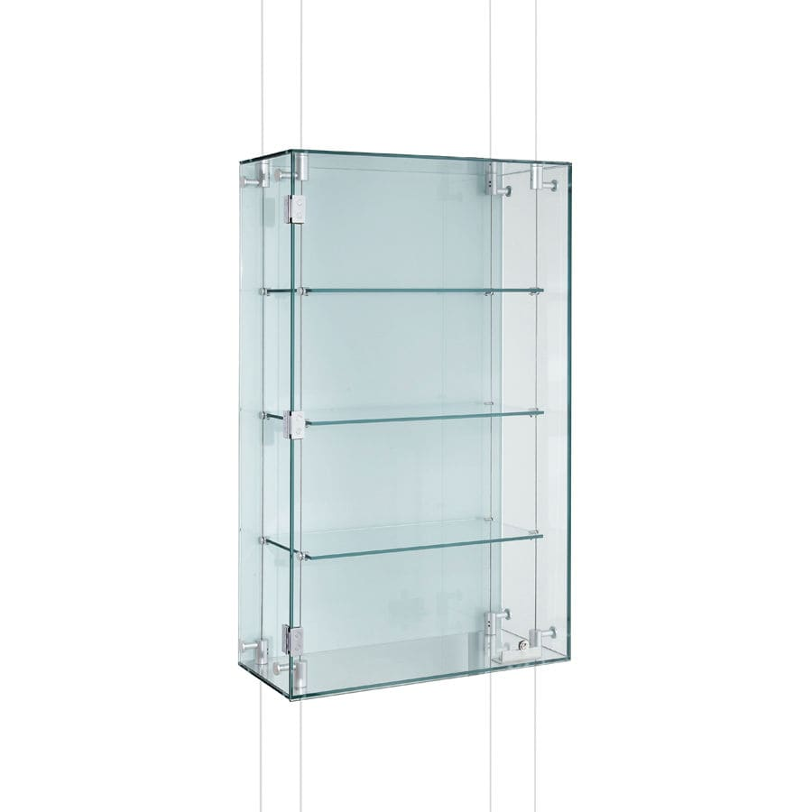 Contemporary Display Case Wall Mounted Gl Aluminum Cmc