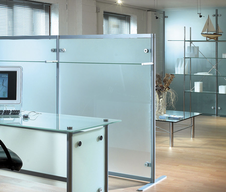 Floor Mounted Office Divider Glass Modular