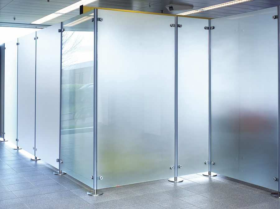 Floor Mounted Office Divider / Glass   FLOOR FIXED
