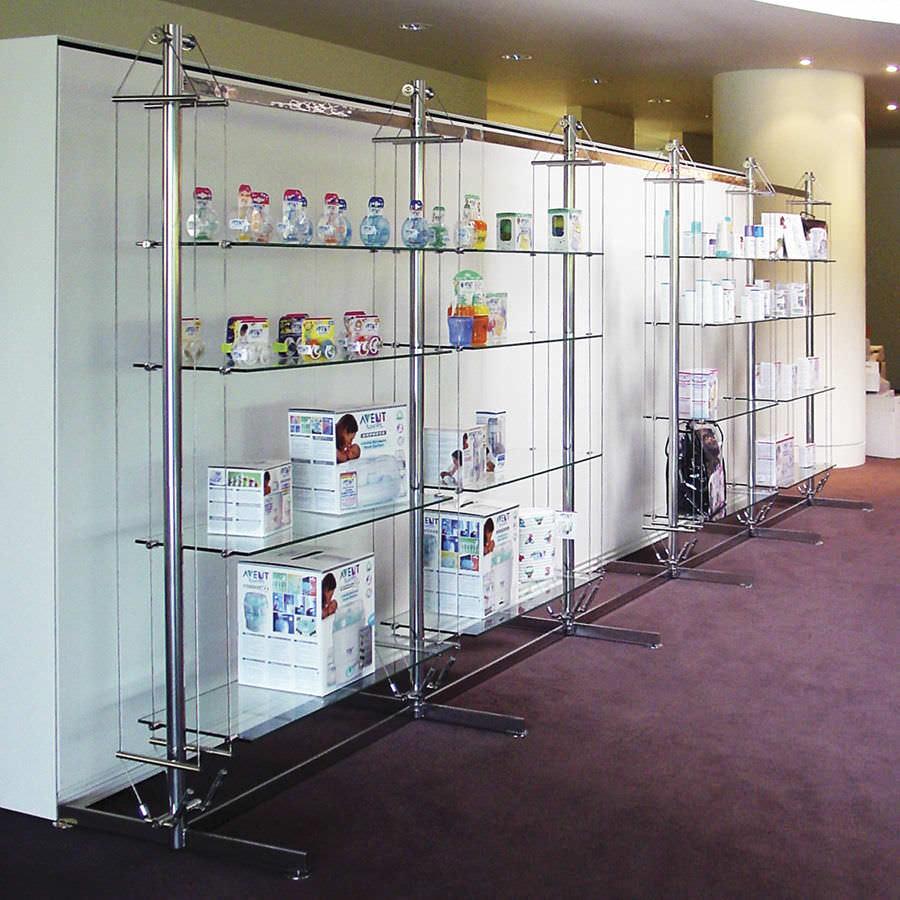 contemporary shelf glass for shops commercial twin rig mast rh archiexpo com glass store shelves for sale glass store shelves for sale