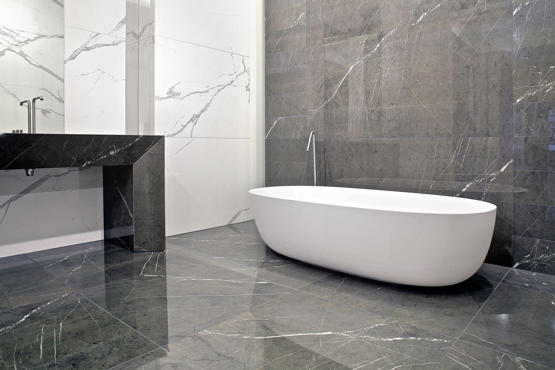 Marble Look Tile Indoor Wall For Floors Granitoker Marmoker Statuario Grigio Casalgrande With Bathroom