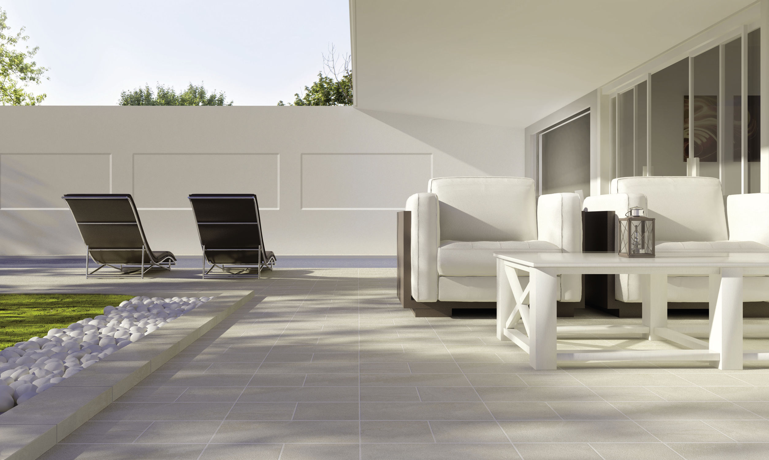 ... Outdoor Tile / For Floors / Porcelain Stoneware / Embossed ...