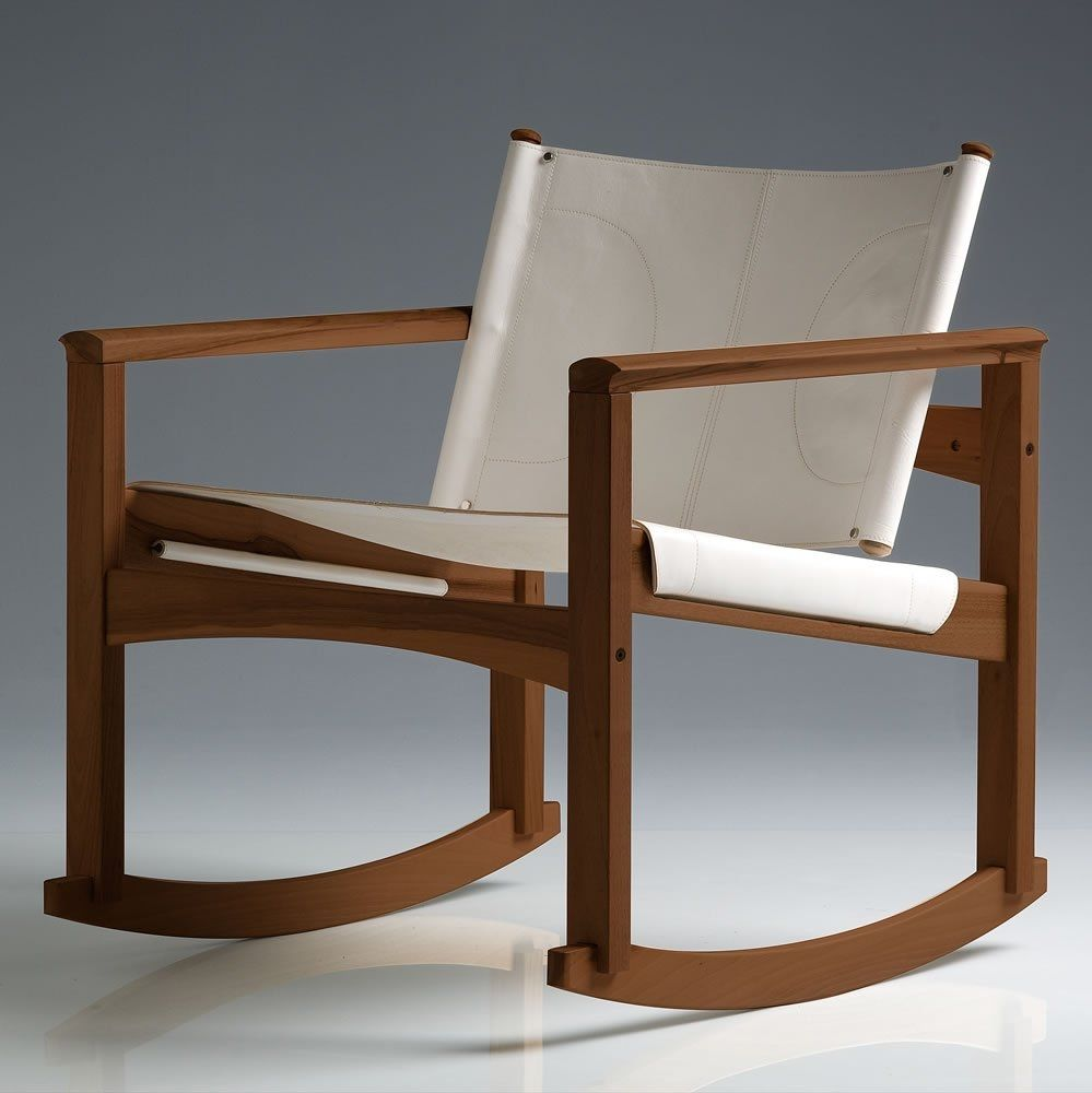 Charmant Contemporary Armchair / Wooden / Rocker   PEGLEV By Michel Arnoult