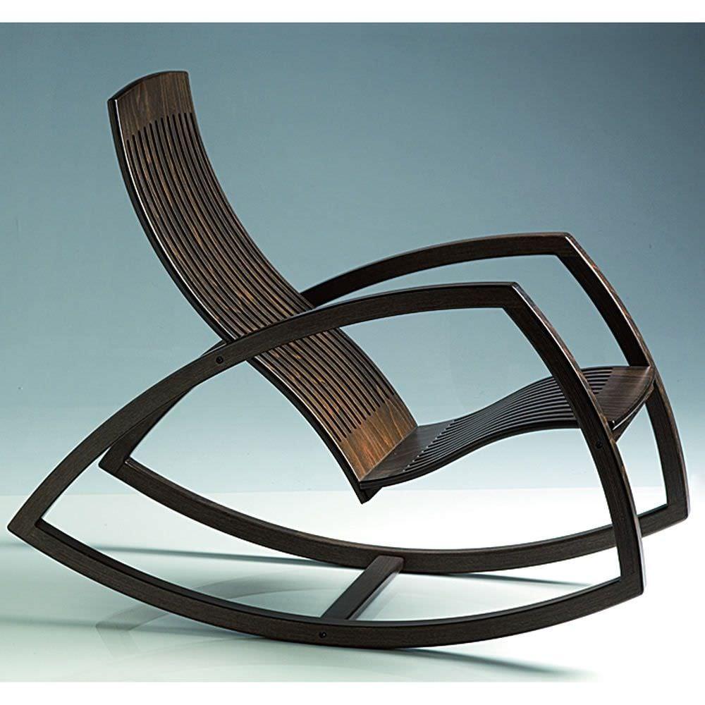 Contemporary Armchair / Wooden / Rocker   GAIVOTA By Renaud Bonzon