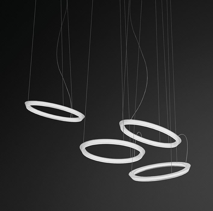 ... Pendant Lamp / Contemporary / PMMA / LED HALO CIRCULAR By Martín Azúa  VIBIA LIGHTING ...