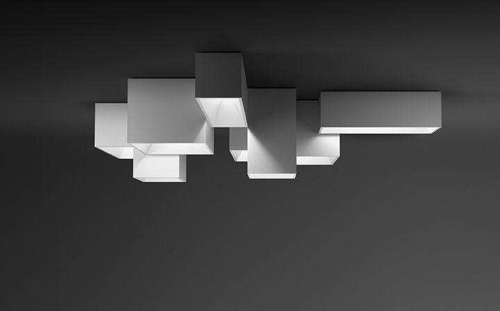 Contemporary ceiling light rectangular methacrylate led link