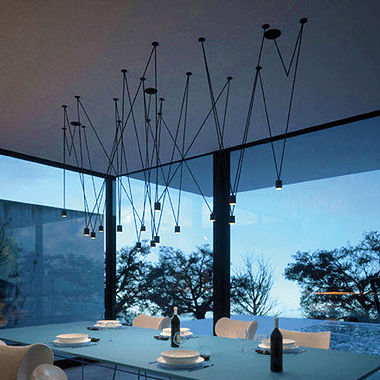 Pendant lamp contemporary aluminum led