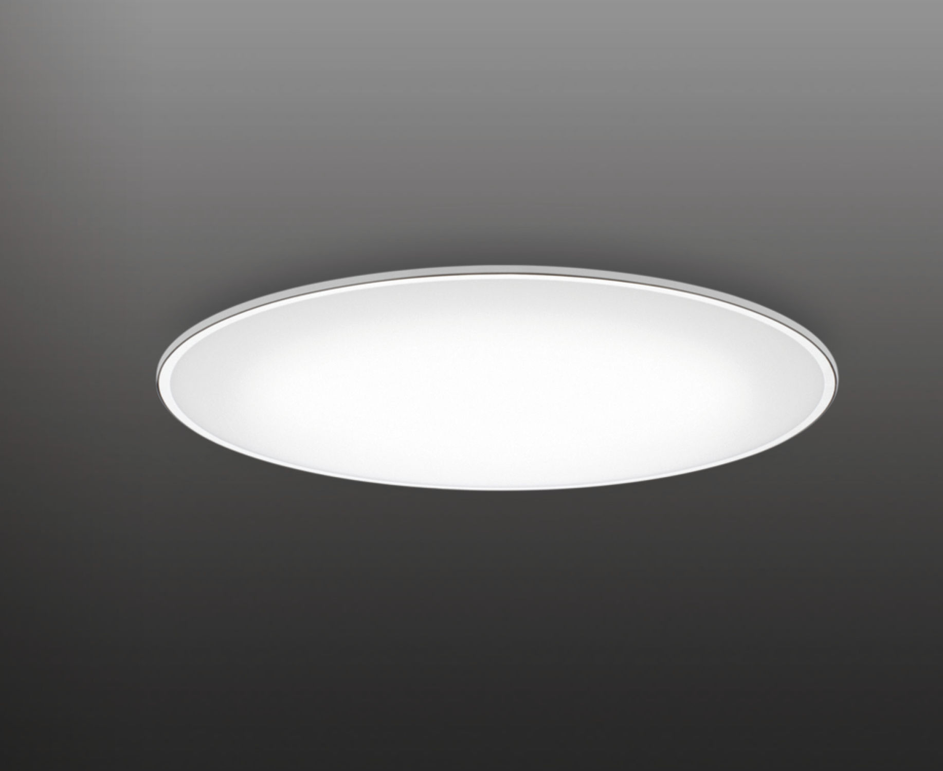 Contemporary Ceiling Light Round Steel Methacrylate