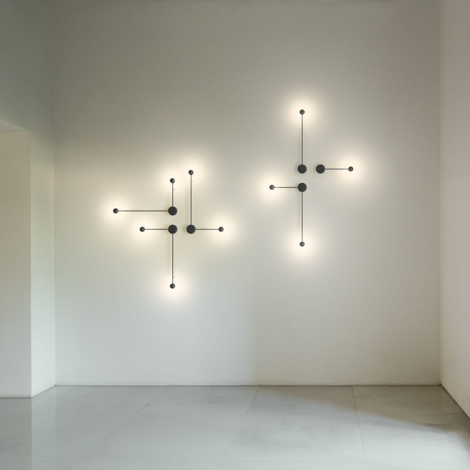 Contemporary wall light / aluminum / steel / LED - PIN by Ichiro ...