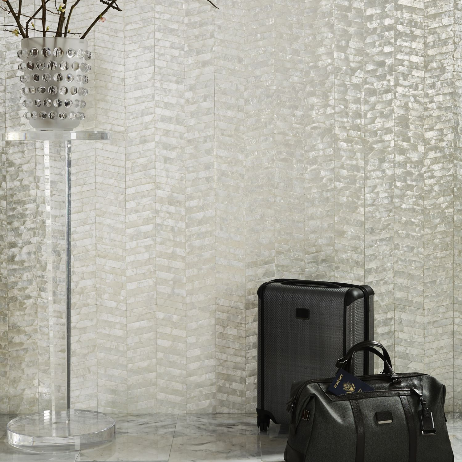 mother of pearl wallpaper | fabrictherapy