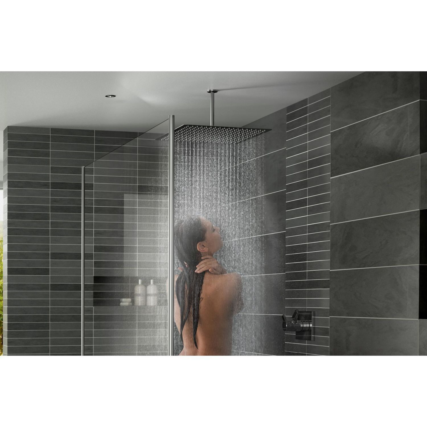 Ceiling Mounted Shower Head Square Rain