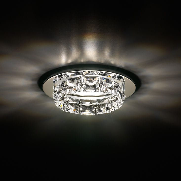 Contemporary ceiling light round crystal halogen ringlet contemporary ceiling light round crystal halogen ringlet srt415 mozeypictures Gallery