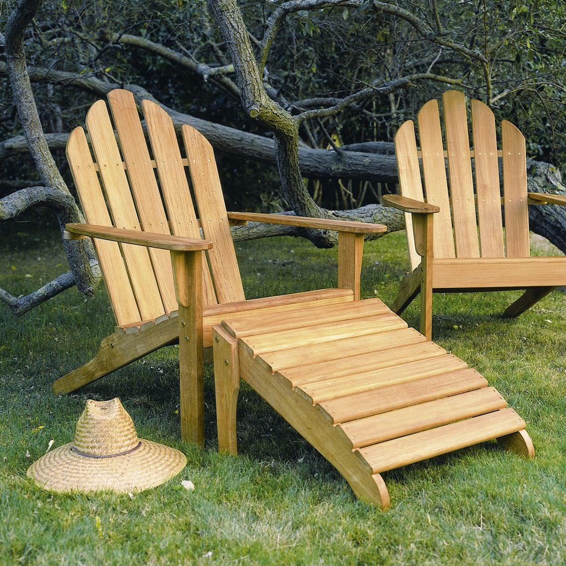 Traditional Chair / With Footrest / Adirondack / Walnut   ADIRONDACK