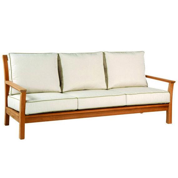 Sofabett holz  Contemporary sofa / garden / wood / 3-seater - CHELSEA - KINGSLEY-BATE
