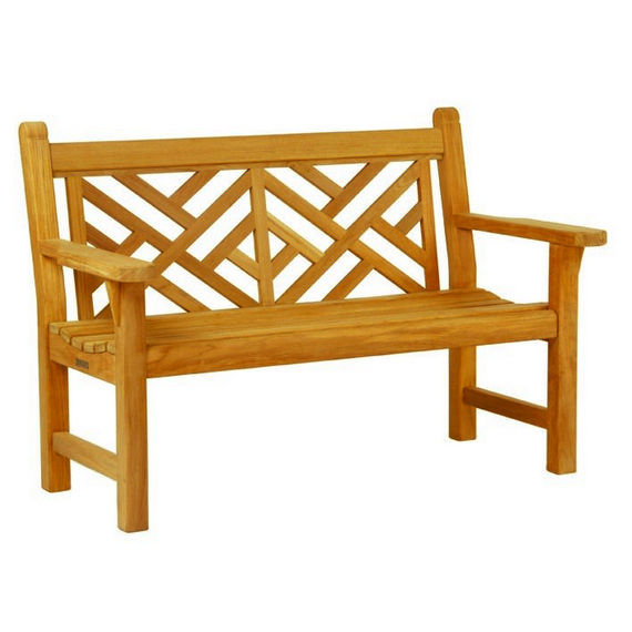 Garden Bench / Traditional / Wooden / With Backrest CHIPPENDALE  KINGSLEY BATE ...
