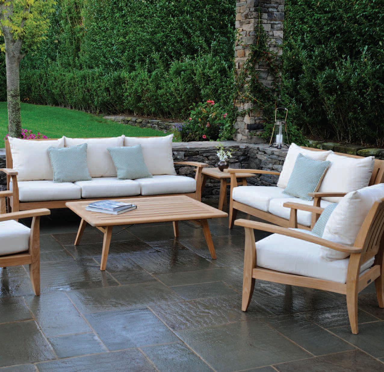 Traditional Coffee Table Teak Rectangular Garden