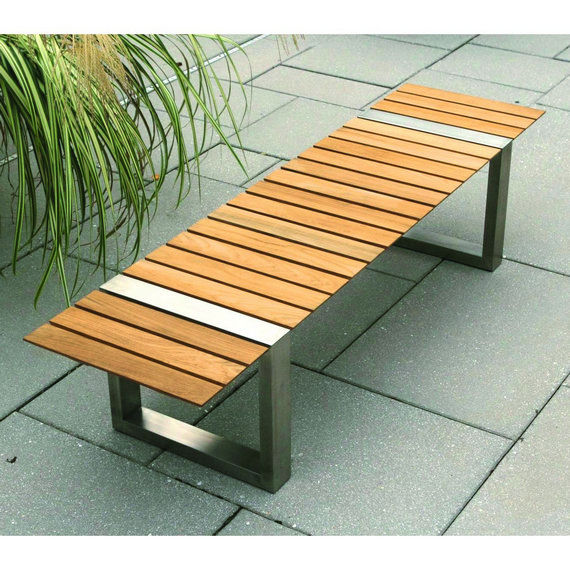 Garden bench contemporary wooden BOCA by Cristian Wicha