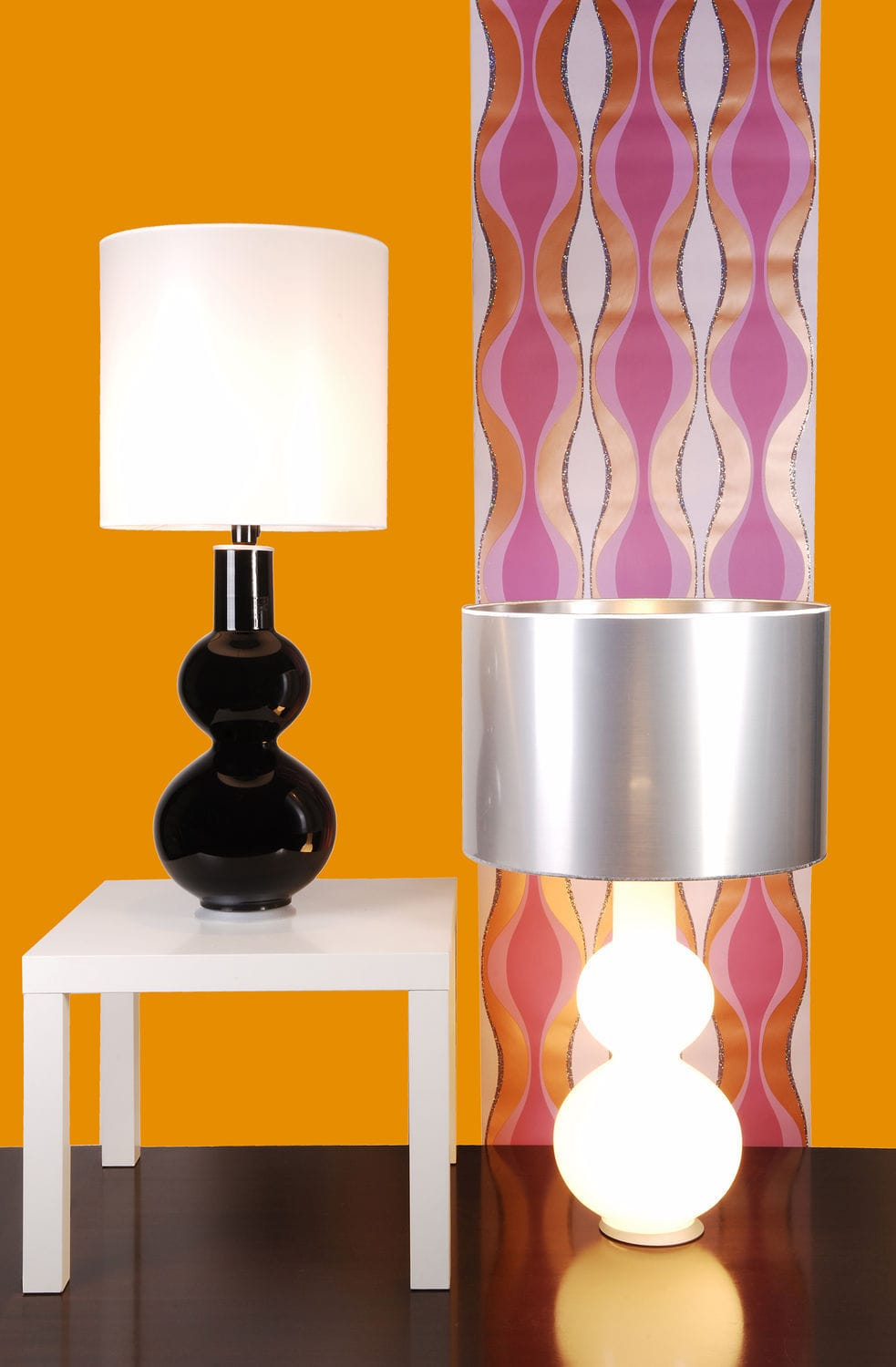 Contemporary orange table lamps -  Table Lamp Contemporary Fabric White Augusta Home Switch Home Thawaru