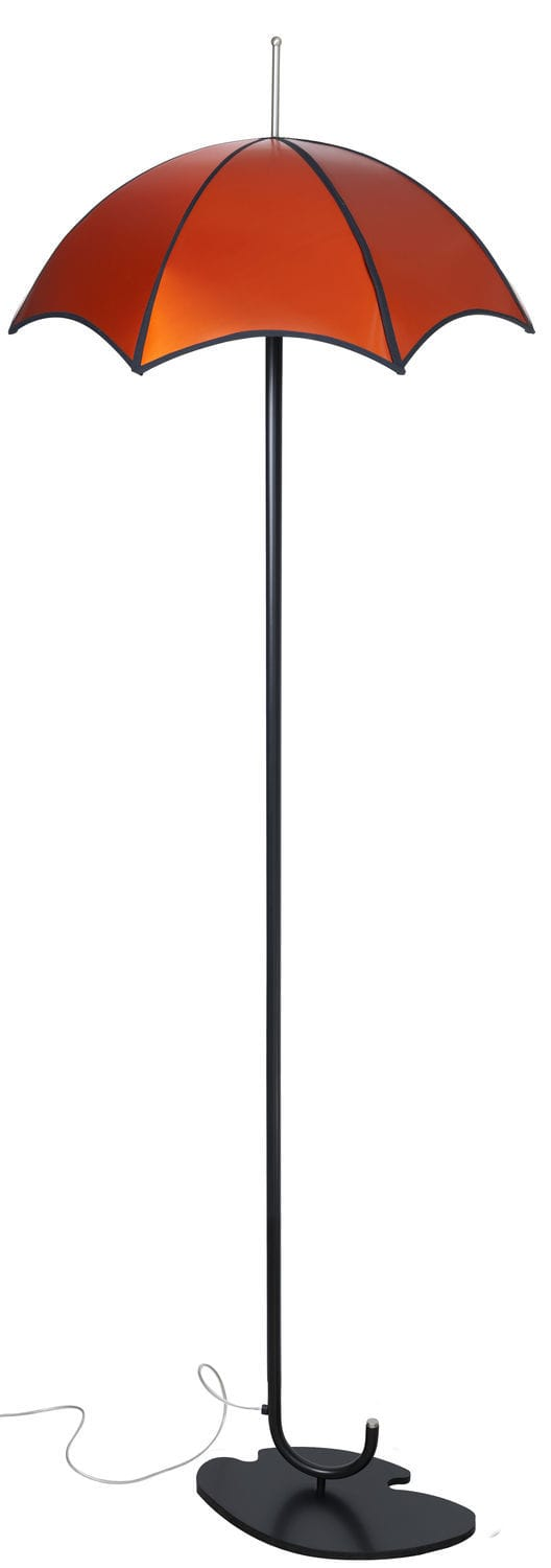 Floor Standing Lamp Contemporary Fabric Red