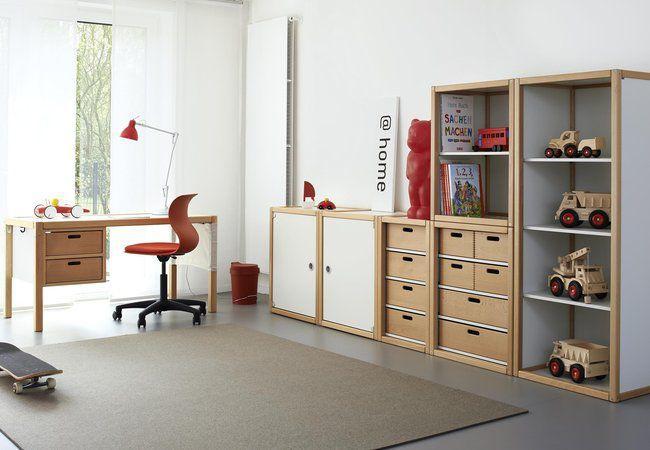 Flötotto Profilsystem wooden desk contemporary child s with storage profilsystem