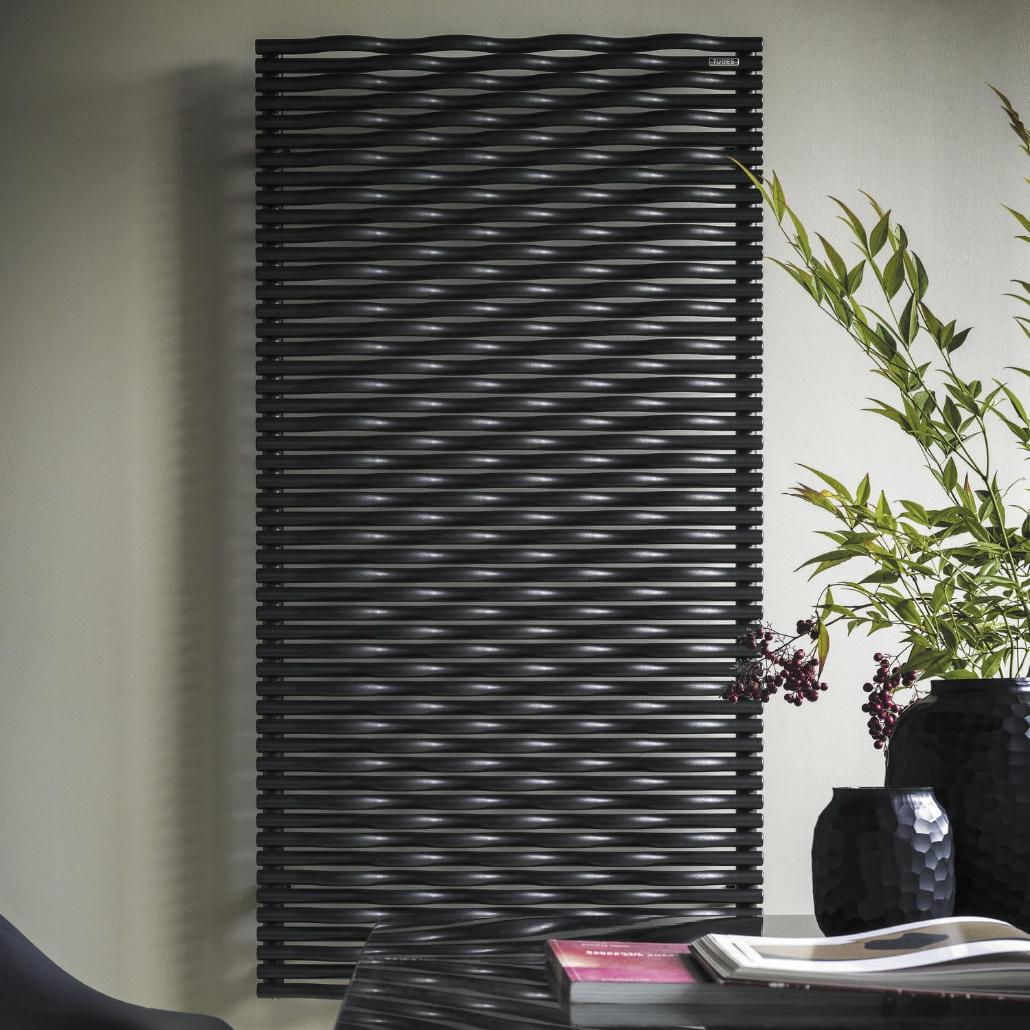 ... Hot water radiator / electric / steel / contemporary ELEMENTS: TRAME by  Stefano Giovannoni TUBES ...