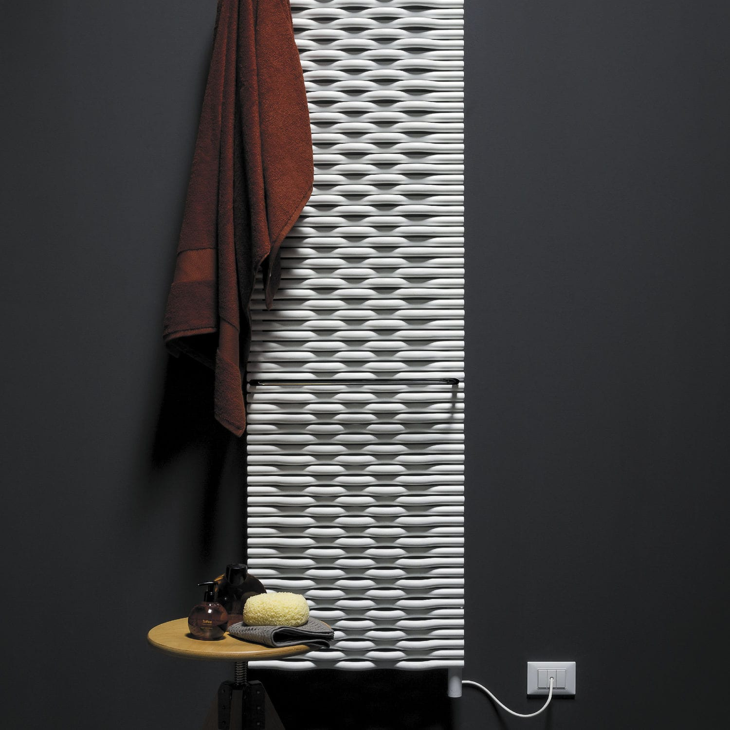 Hot water radiator / electric / steel / contemporary - ELEMENTS ...
