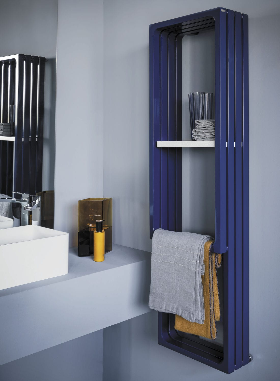 Contemporary Elements hot water towel radiator / electric / steel / contemporary