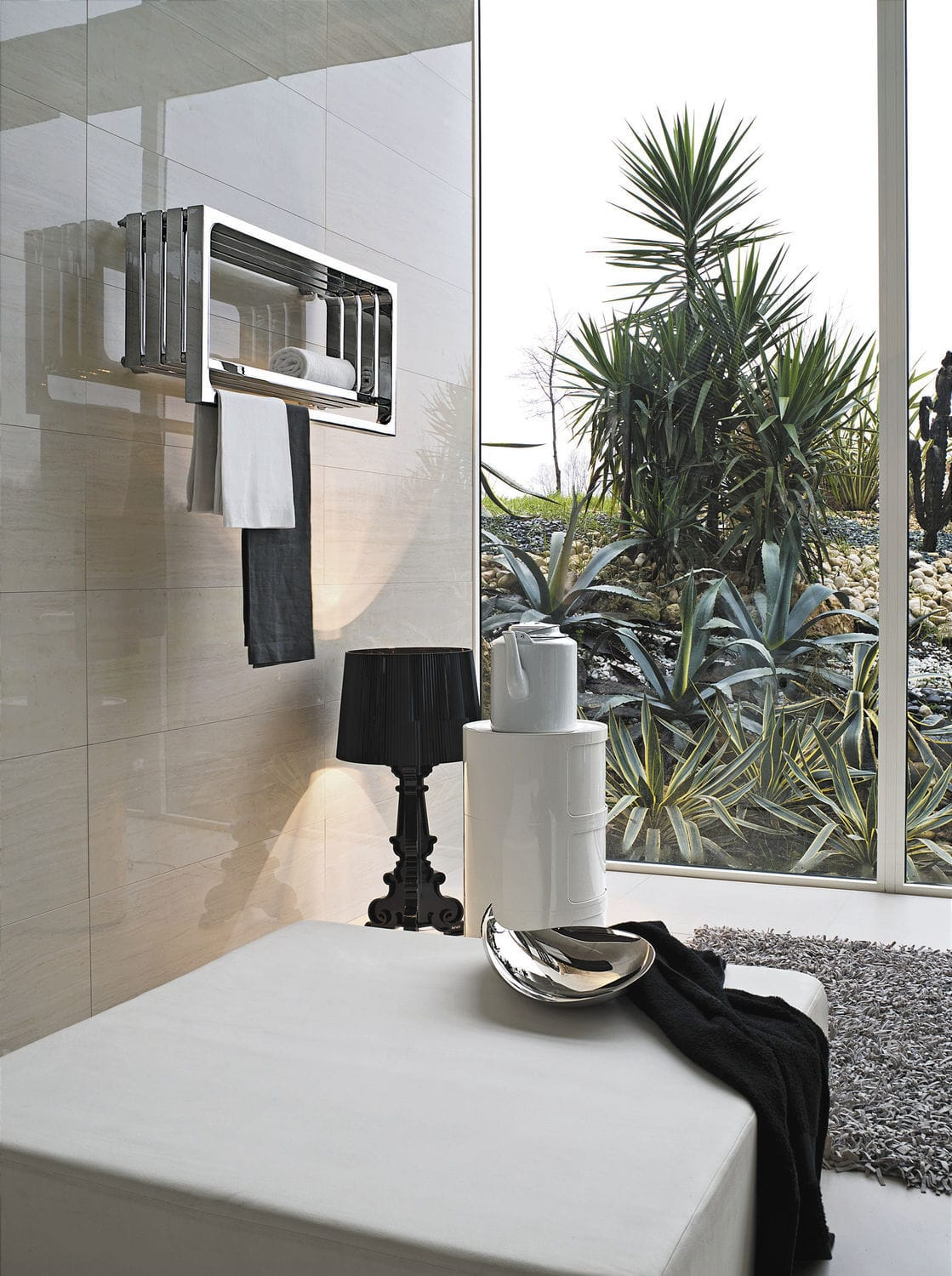... Hot water towel radiator / electric / steel / contemporary ELEMENTS:  MONTECARLO by Peter Jamieson ...