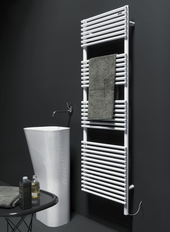 Hot water towel radiator / electric / steel / contemporary - BASICS ...