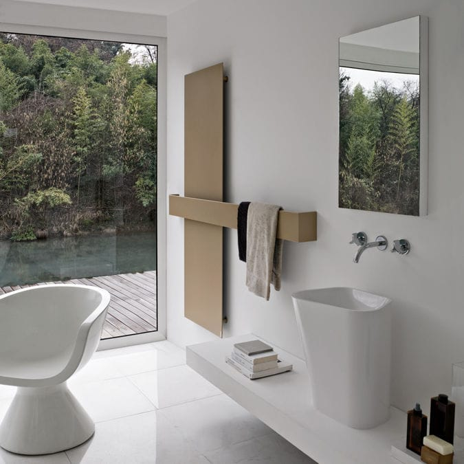 Contemporary Elements hot water towel radiator / electric / aluminum / contemporary