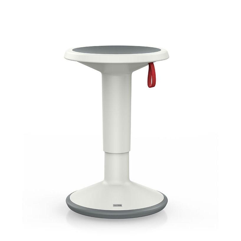Polypropylene task stool / adjustable-height / white - UPIS1 100U ...