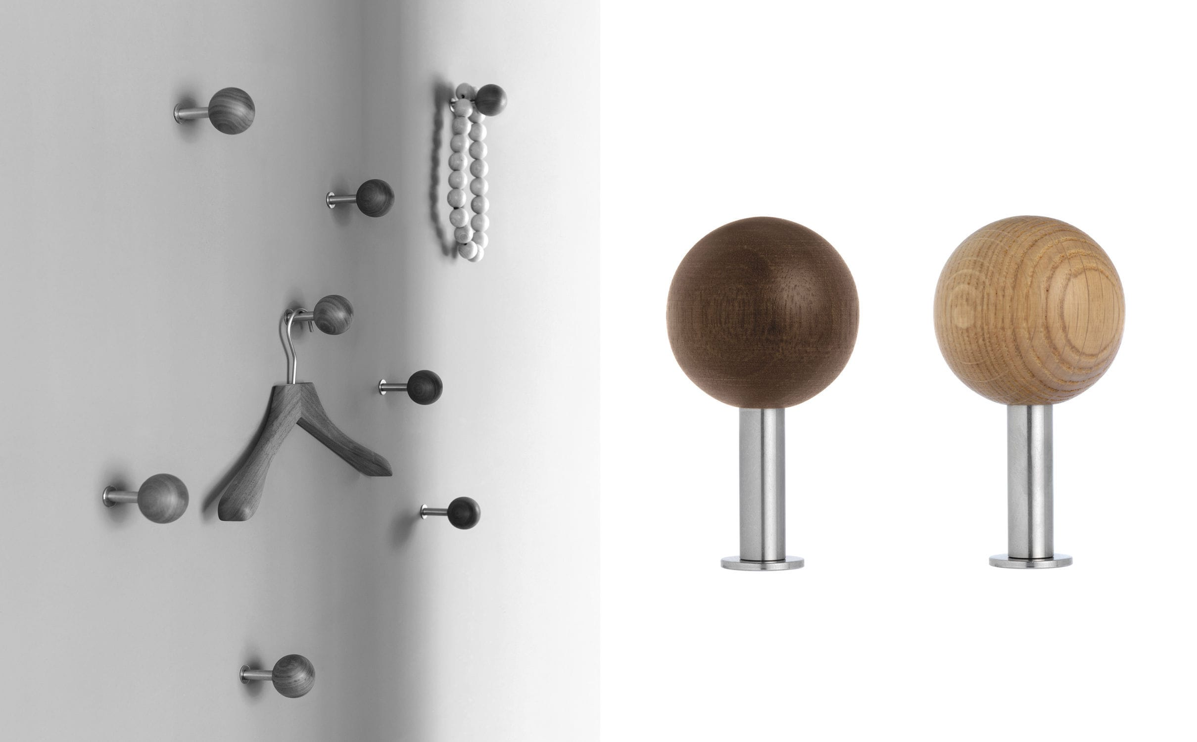 coat hook oak brushed stainless steel dots by apartment 8 schnbuch