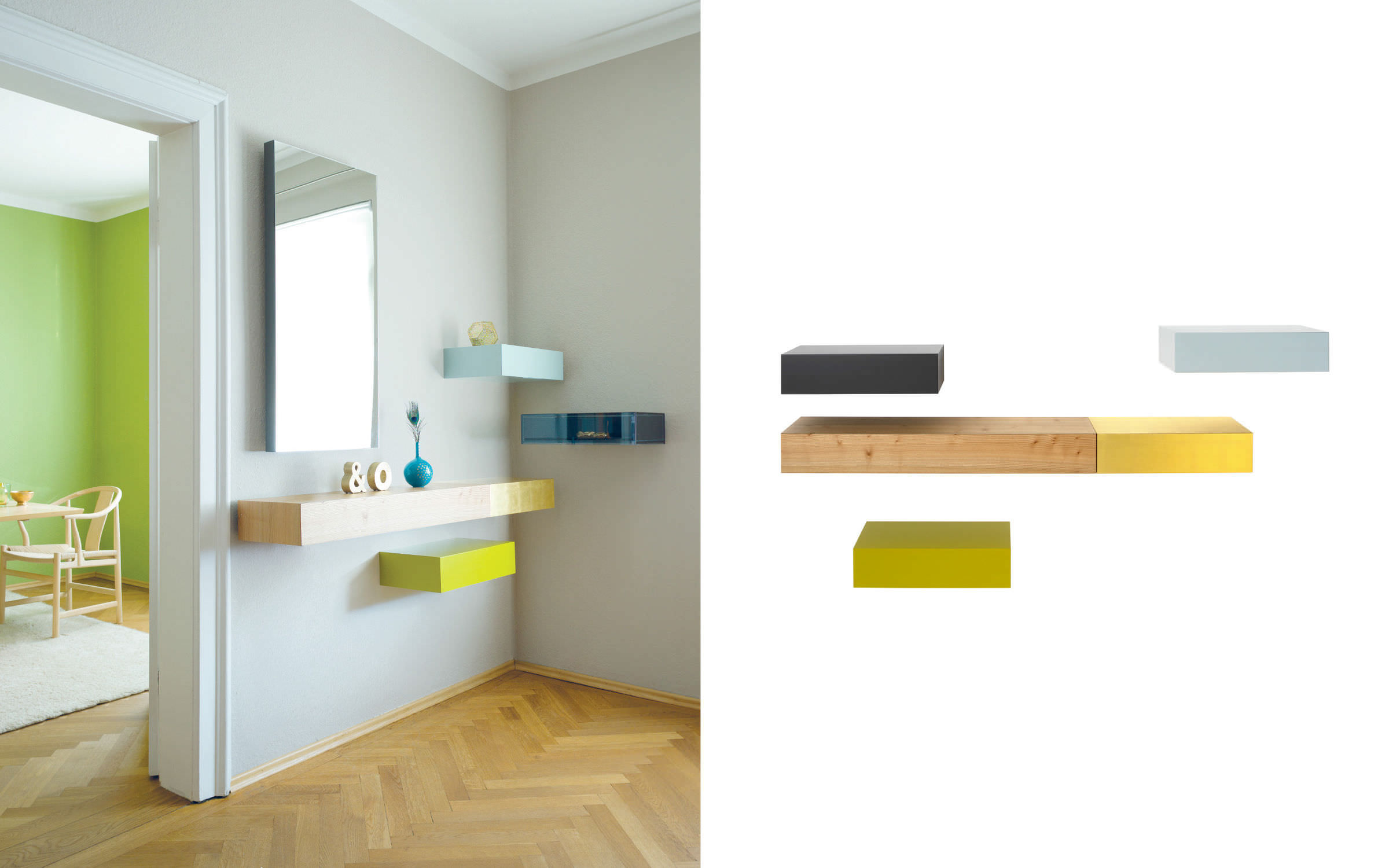 ... Contemporary Sideboard Table / Wooden / Rectangular / Wall Mounted ...