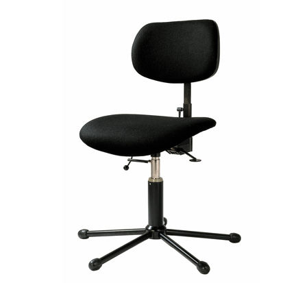 Metal Orchestra Chair Fabric Adjustable Star Base 710 1205