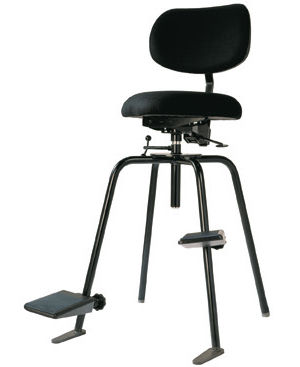 Metal Orchestra Chair Fabric With Footrest Adjustable 710