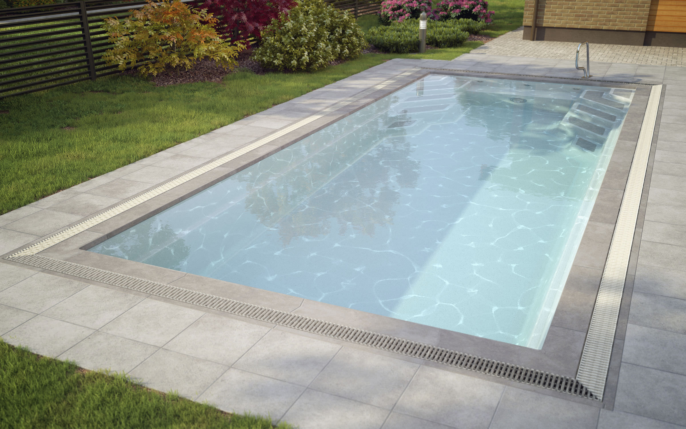 In-ground swimming pool / polyester / PU / composite - WANAKA - LUXE ...