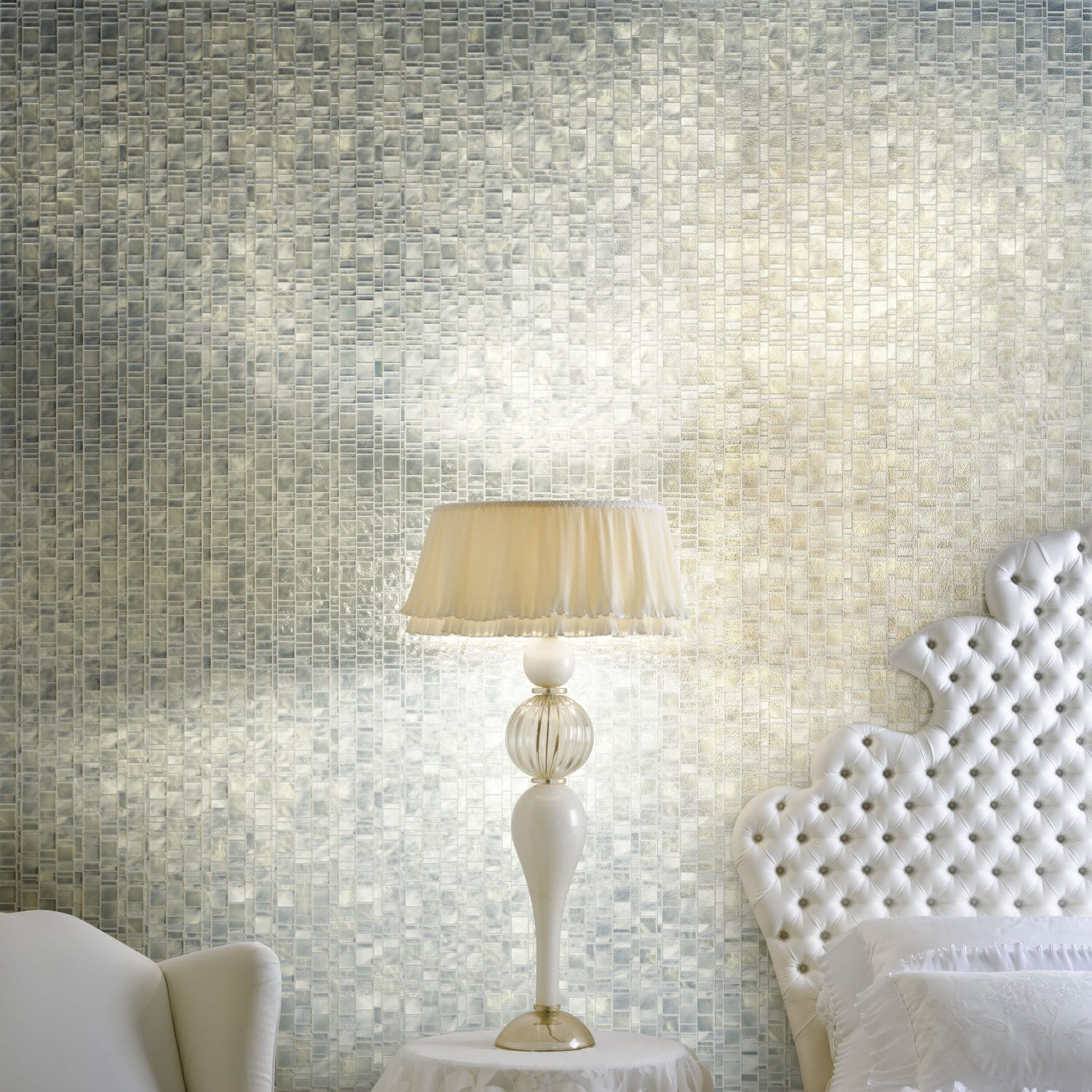 Indoor mosaic tile / wall / glass / polished - LIBERTY PEARL - Trend ...
