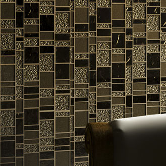 Trend Mosaique indoor mosaic tile / wall / glass / polished - liberty bronzite - trend
