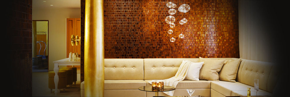 Indoor Mosaic Tile Wall Gl Polished Liberty Amber Trend