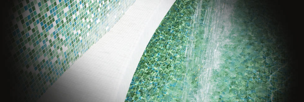 Trend Mosaique indoor mosaic tile / wall / glass / polished - shading blend jasmin