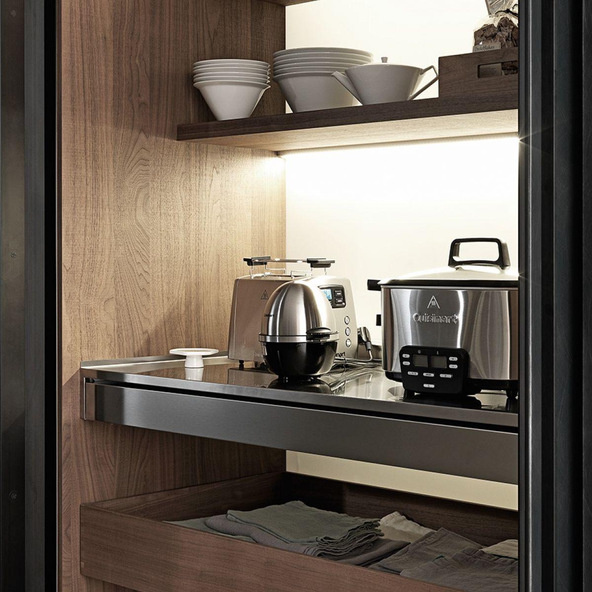 storage cabinet for kitchen - colonne rientranti - valcucine - videos