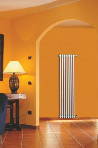 Hot Water Radiator / Aluminum / Contemporary / Vertical   EKOS PLUS