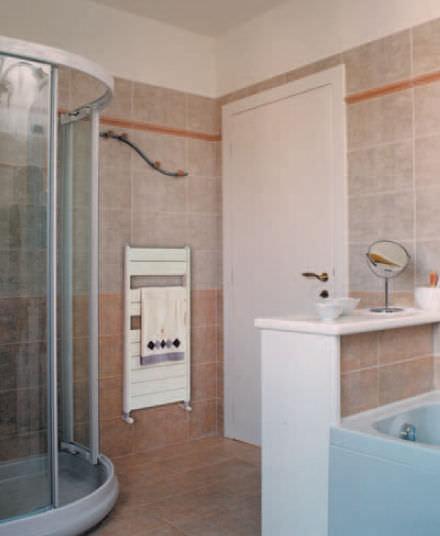 Hot Water Towel Radiator / Cast Aluminum / Contemporary / Vertical   JUNIOR