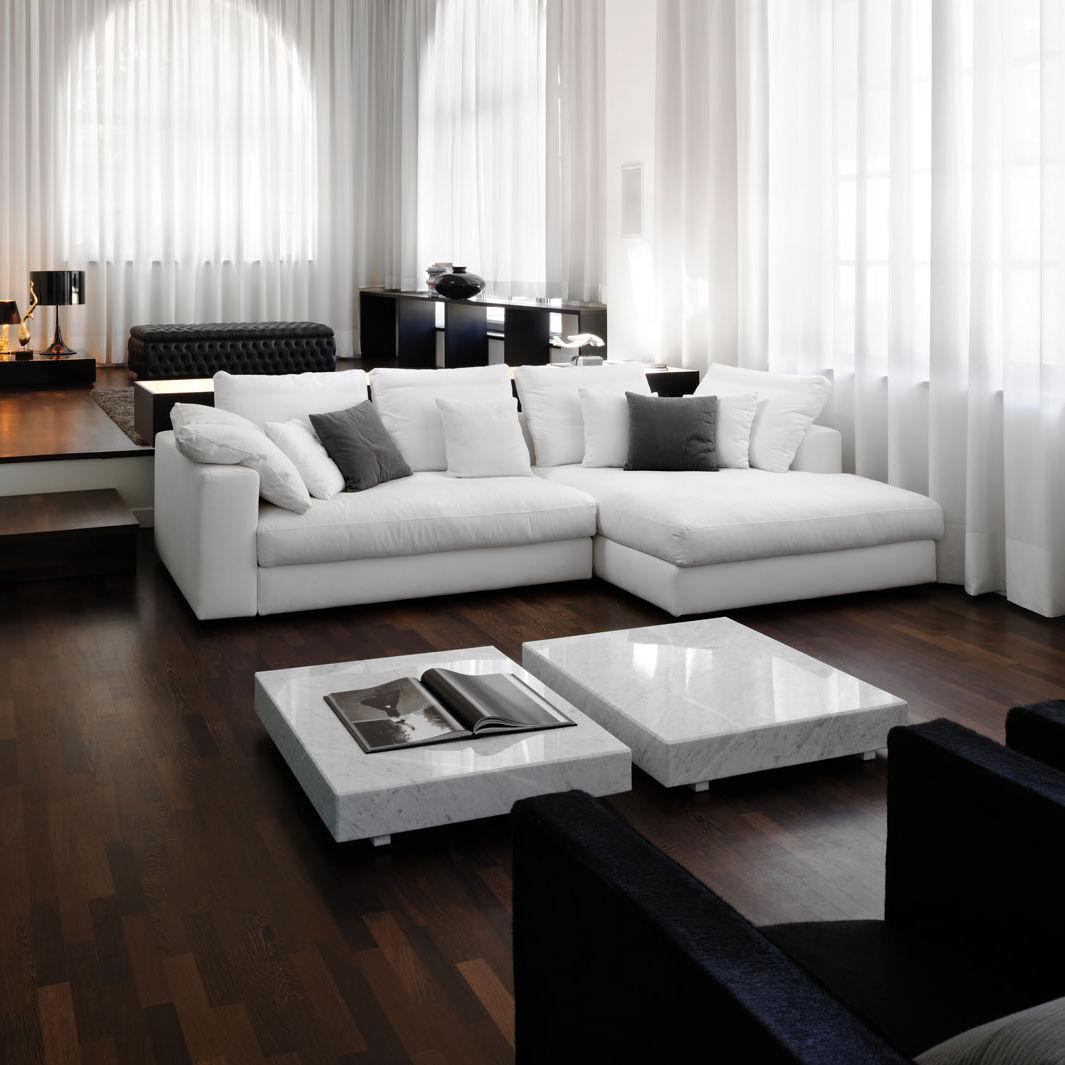 Modular Sofa Contemporary Leather Fabric