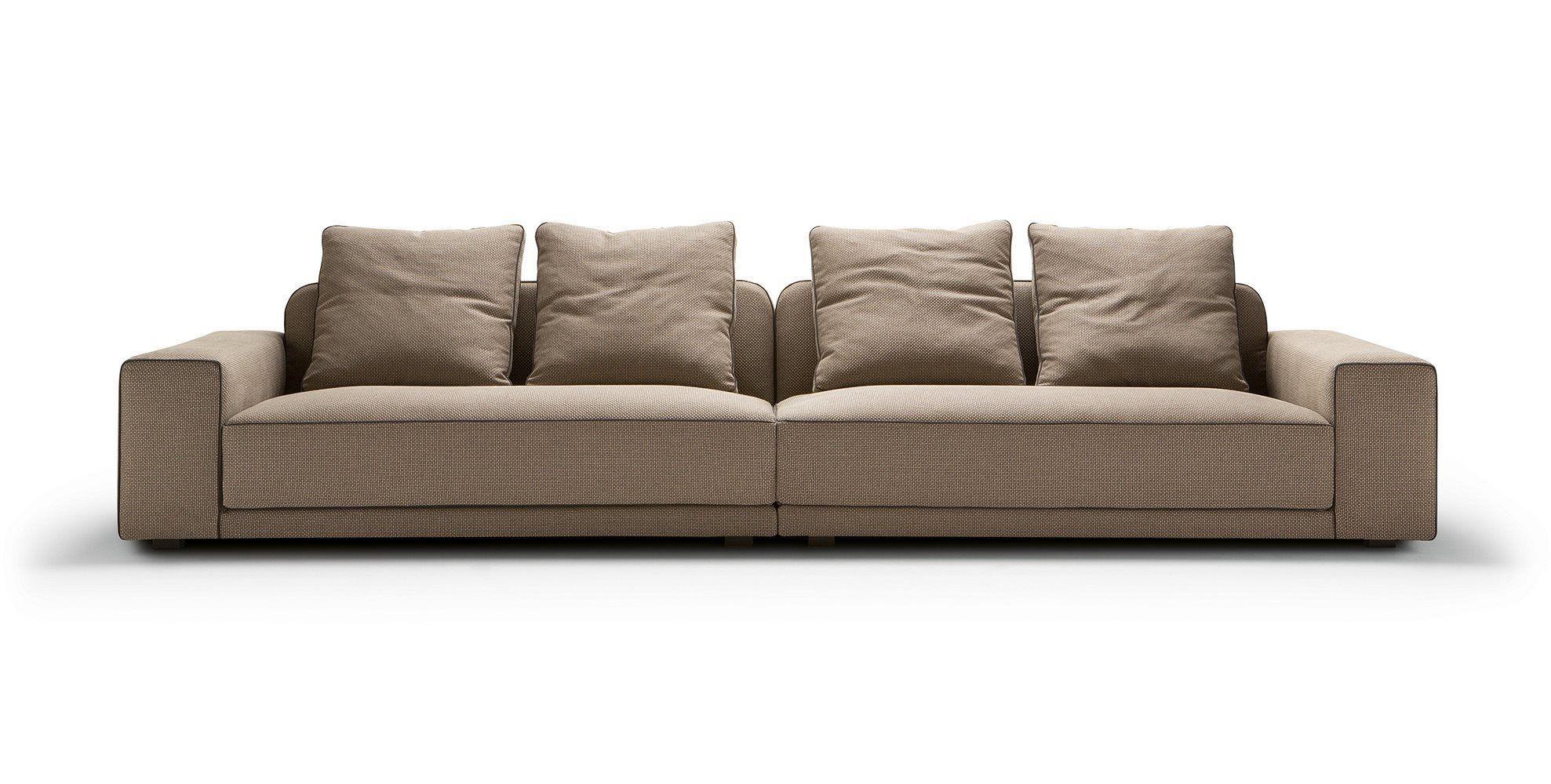 Modular sofa contemporary leather fabric TYRON by Castello