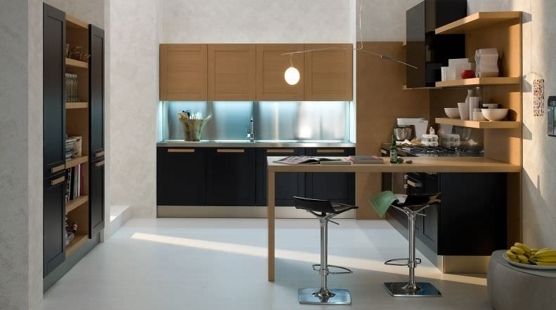 Contemporary kitchen / solid wood / wooden - CALIFORNIA VARIANTE 8 ...