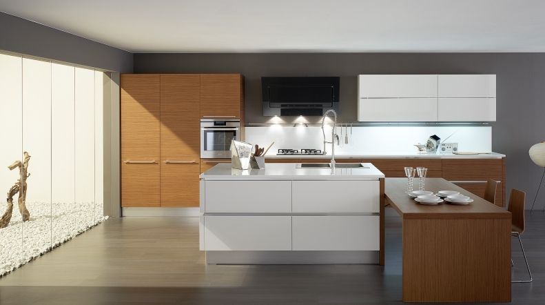 Contemporary kitchen / solid wood / wooden - OYSTER VARIANTE 4 ...