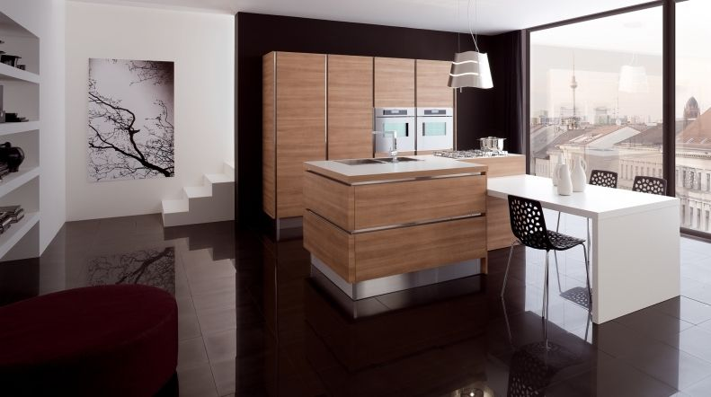 Contemporary kitchen / wood veneer / island - OYSTER DECORATIVO ...