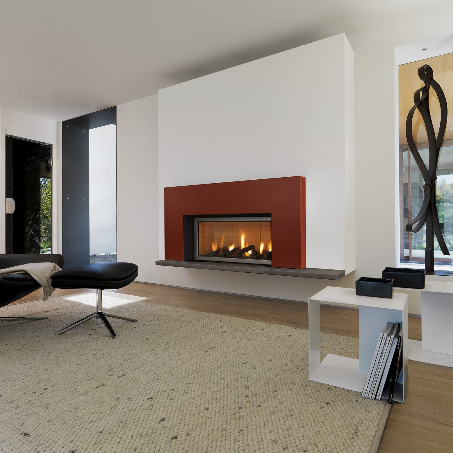 contemporary fireplace mantel / steel / earthenware - chester