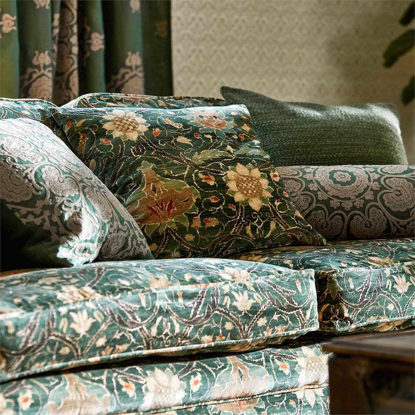 Upholstery fabric patterned linen viscose montreal velvet